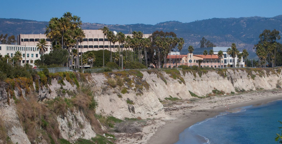 Beach view by psychology building